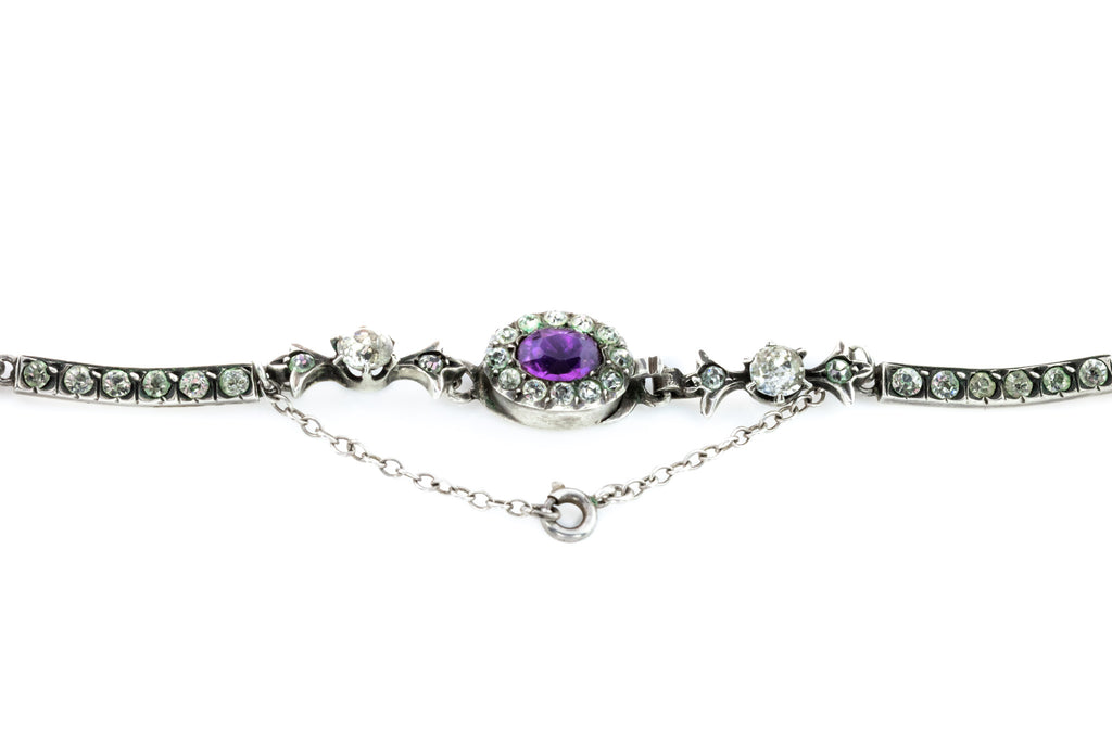 Edwardian Paste Riviere Necklace - Suffragette Paste Necklace