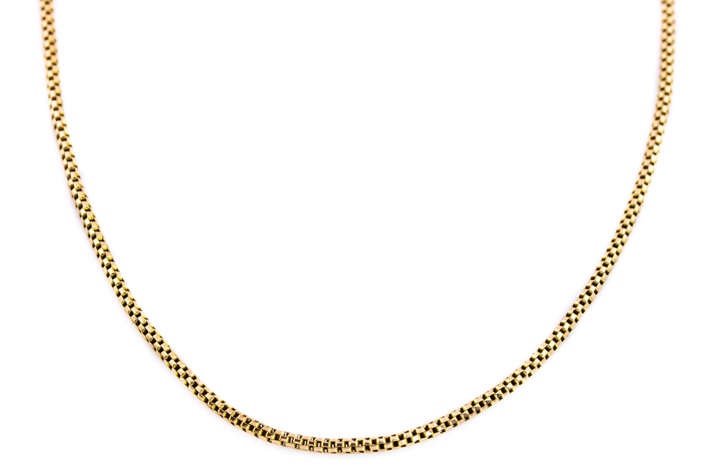 "Victorian 9ct Gold Rope Chain - 16.2"" (3.4g)"