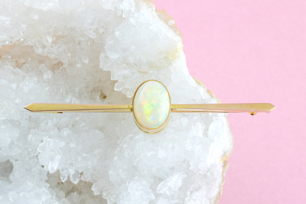 Antique Opal Bar Brooch