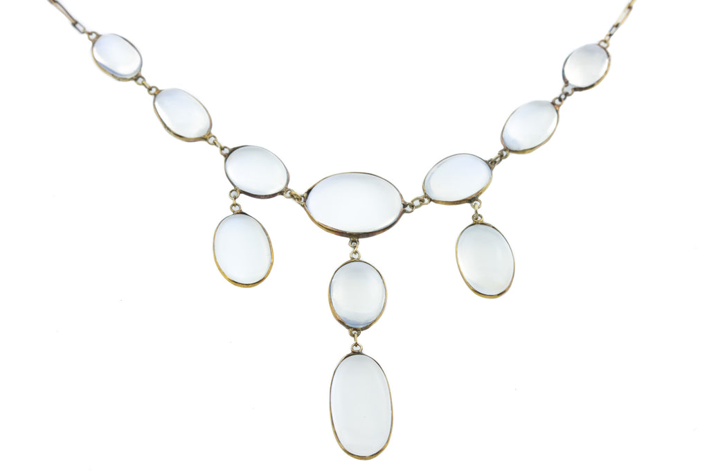 Antique Moonstone Fringe Necklace (17.60ct), 16.5""