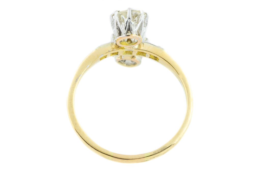 "18ct Gold French Antique ""Toi et Moi"" Diamond Ring (1.21ct)"