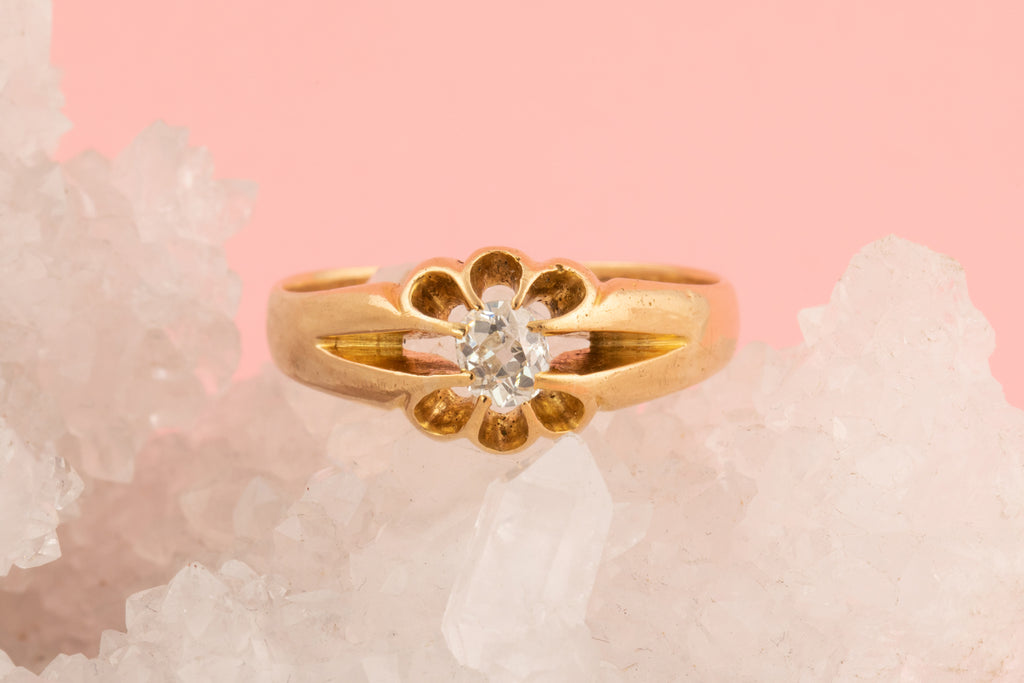 Victorian Diamond Solitaire Ring (0.3ct)