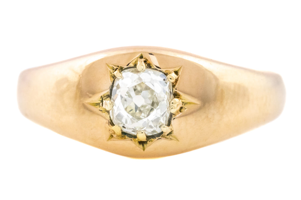 Victorian Solitaire Diamond Gypsy Ring (0.5ct)
