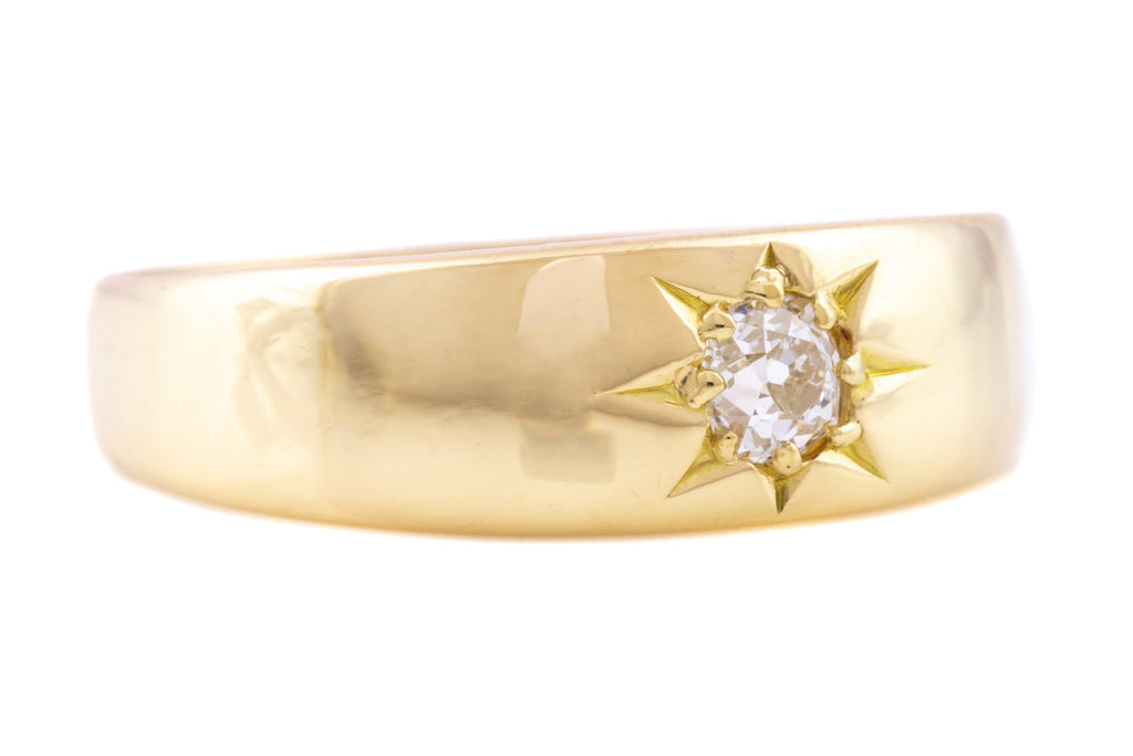 "18ct Gold Antique Diamond ""Gypsy"" Ring (0.15ct)"