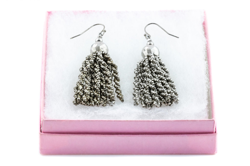 Georgian Cut Steel Tassel Earrings