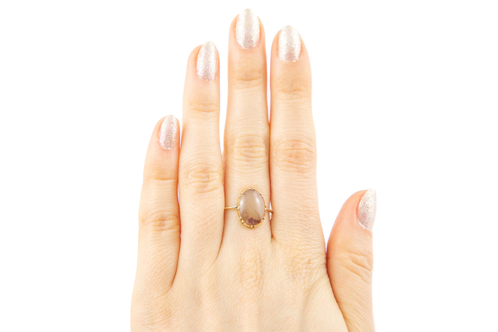 Victorian 15ct Gold Agate Ring