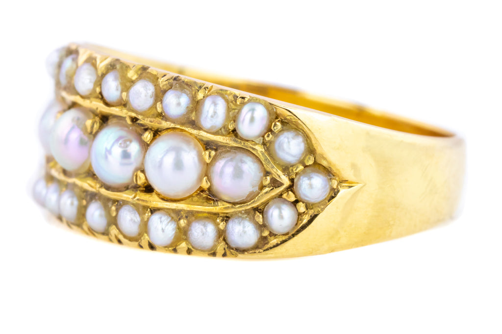 18ct Gold Antique Pearl Ring c.1909