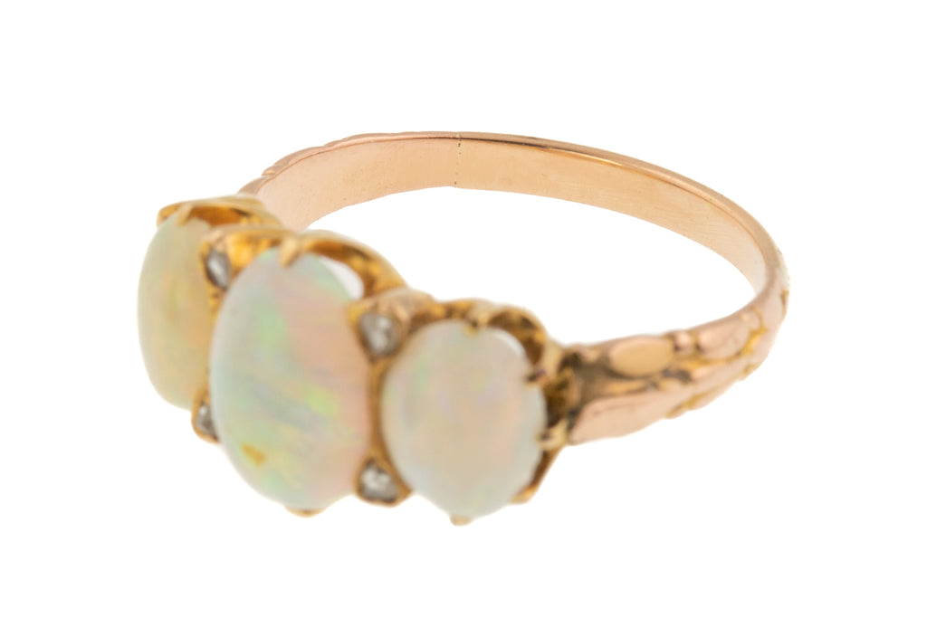 Antique Opal Trilogy Ring - Victorian Opal Trilogy Ring (1.88ct)