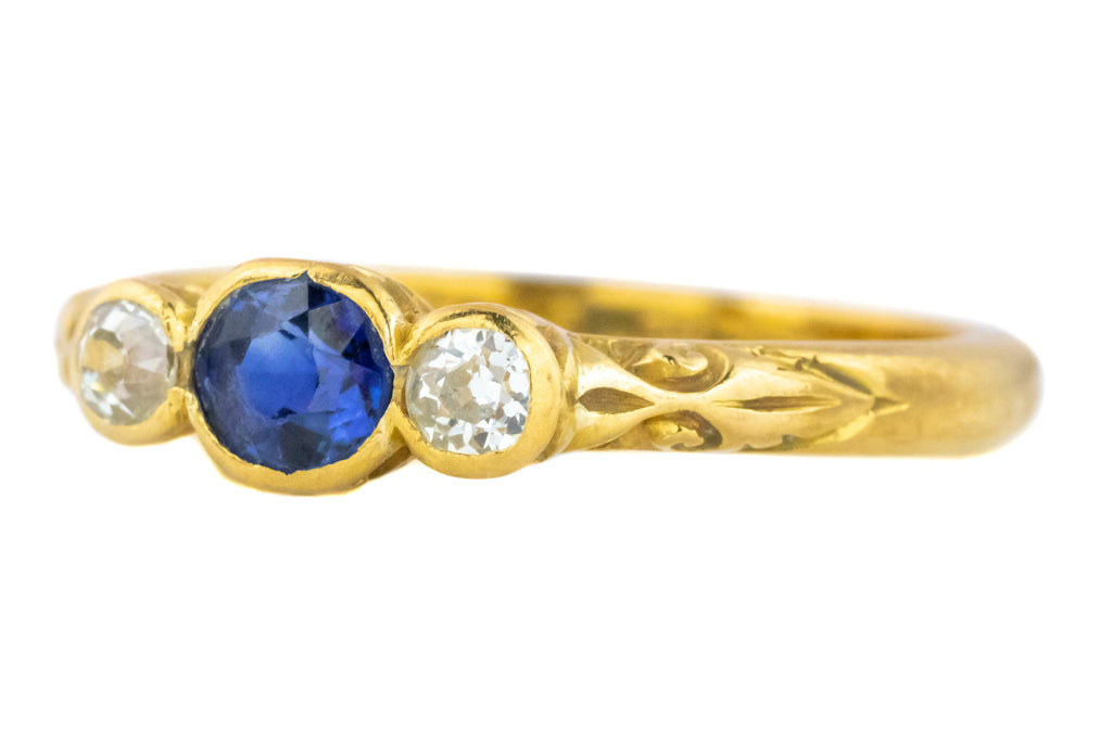 Victorian Diamond and Sapphire Trilogy Ring c.1877