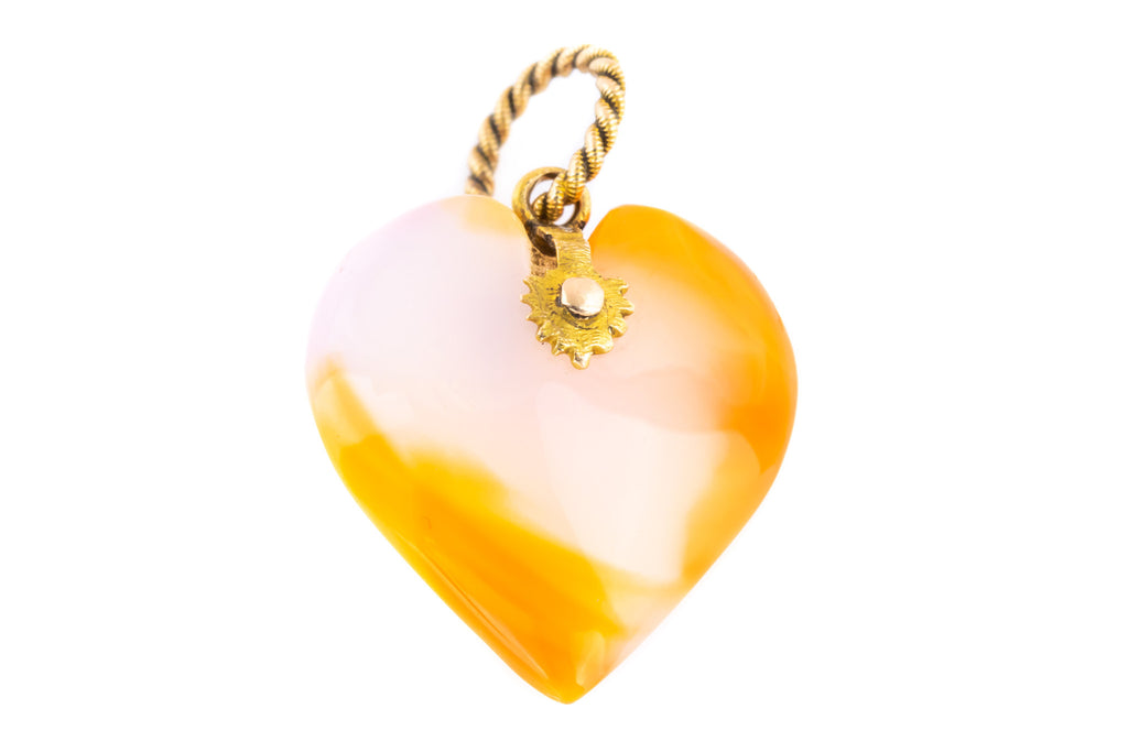 Georgian Agate Heart Pendant