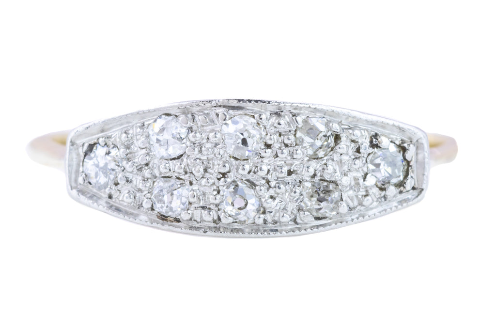 RESERVED Art Deco Diamond Ring (0.18ct)