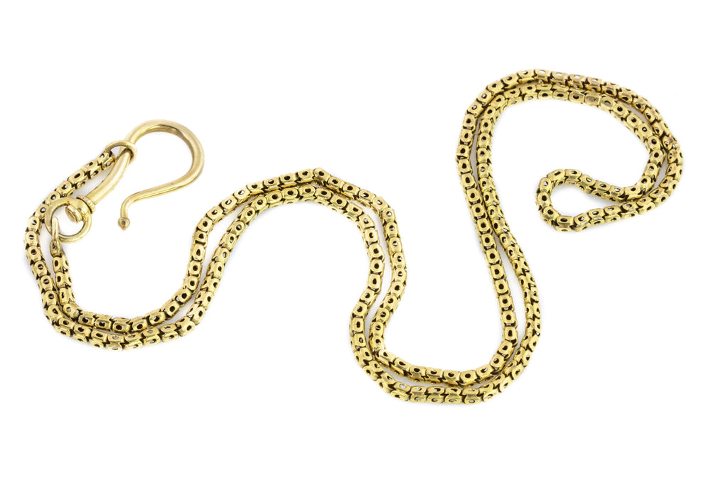 Victorian Snake Chain Necklace in 9ct Gold