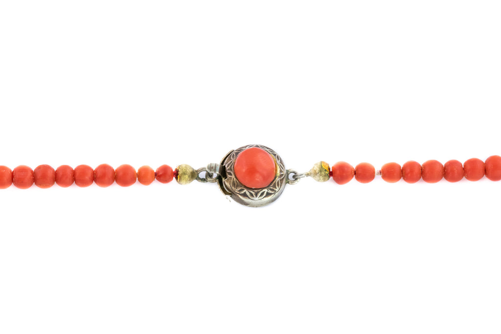Victorian Coral Beaded Necklace