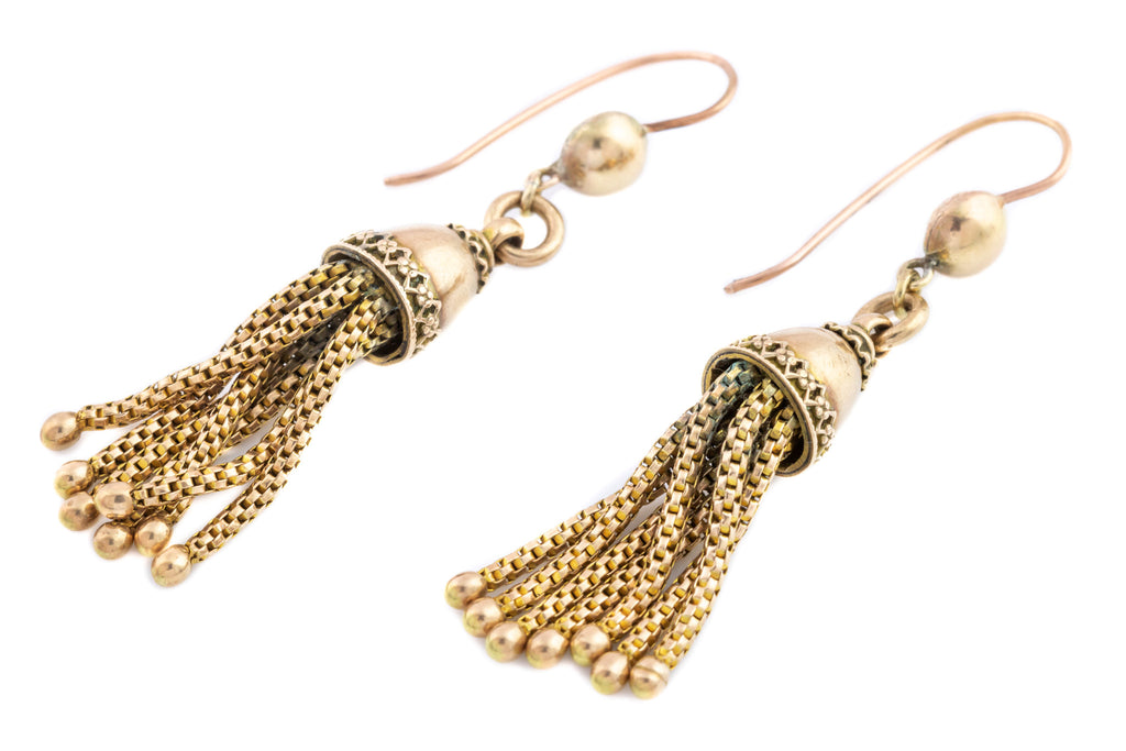 Victorian Gold Tassel Earrings