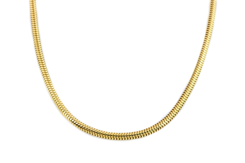 Solid 9ct Gold Heavy Snake Chain Necklace