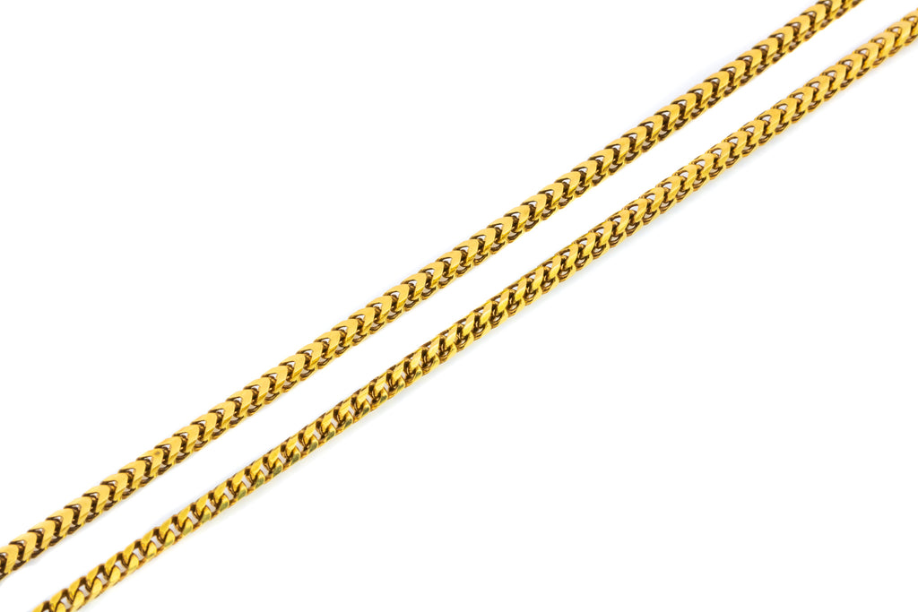 Victorian Gold Snake Chain Necklace, 19.5""