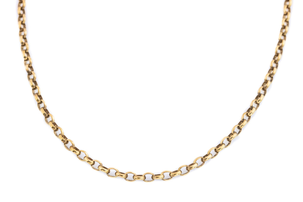 Victorian Gold Belcher Chain Necklace, 20""