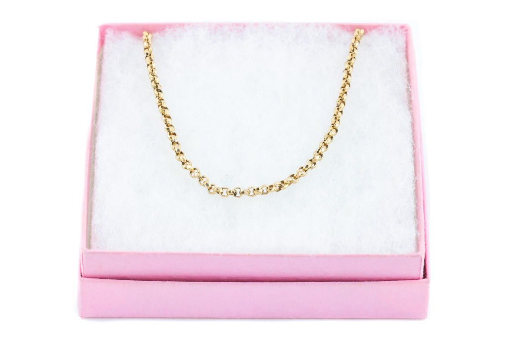 "17"" Faceted Belcher Chain in 9ct Gold - 7.5g"