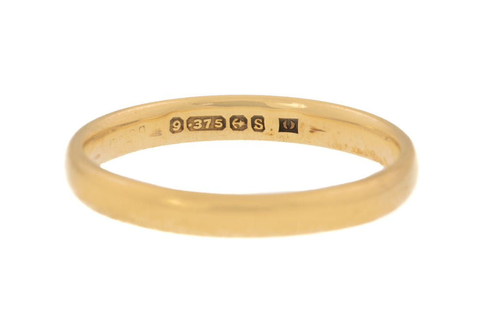 Victorian Gold Wedding Band c.1867 - Antique 9ct Gold Ring