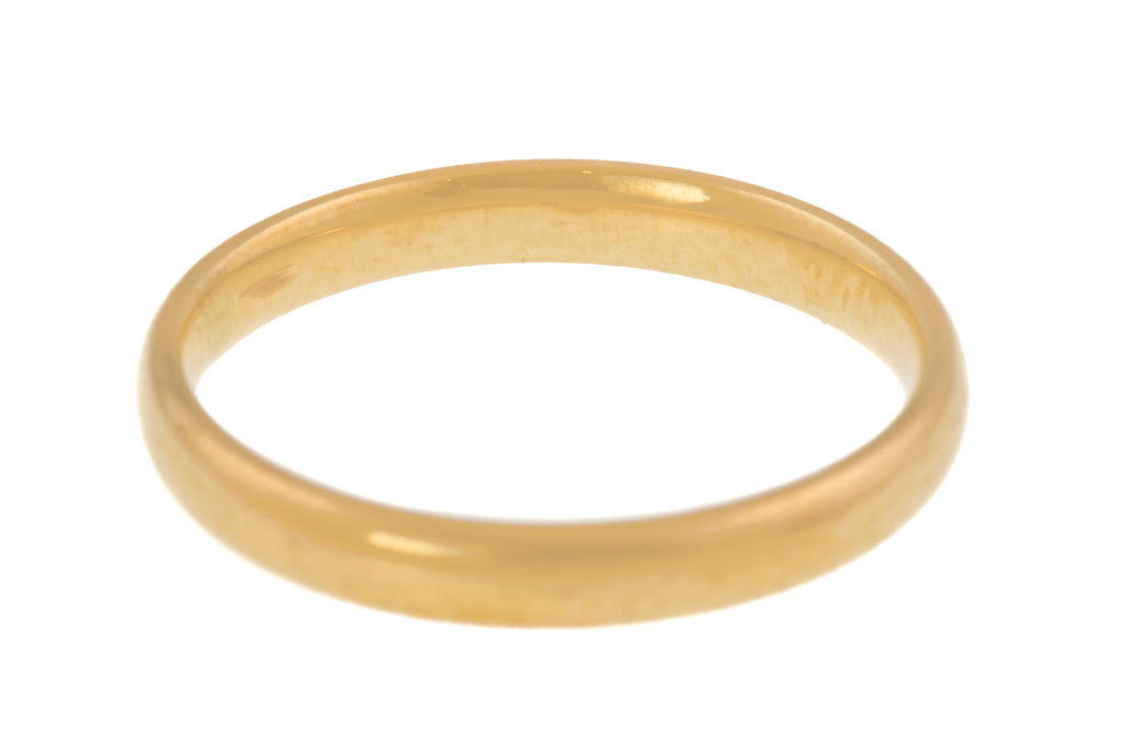 Victorian 9ct Gold Wedding Band, c.1867