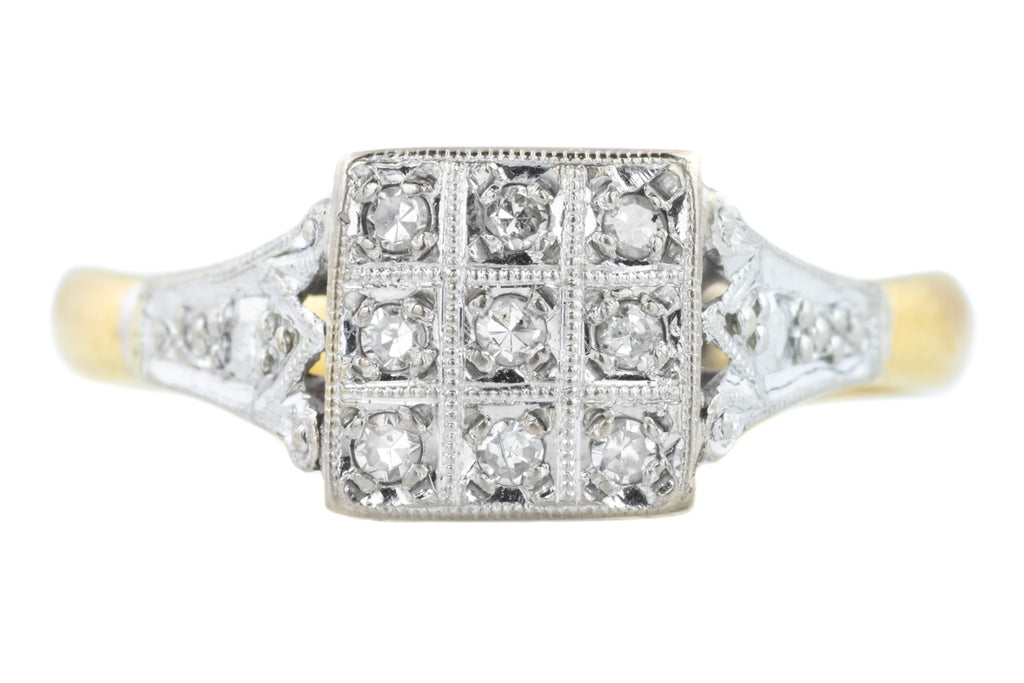 Vintage Deco Style Diamond Ring c.1965