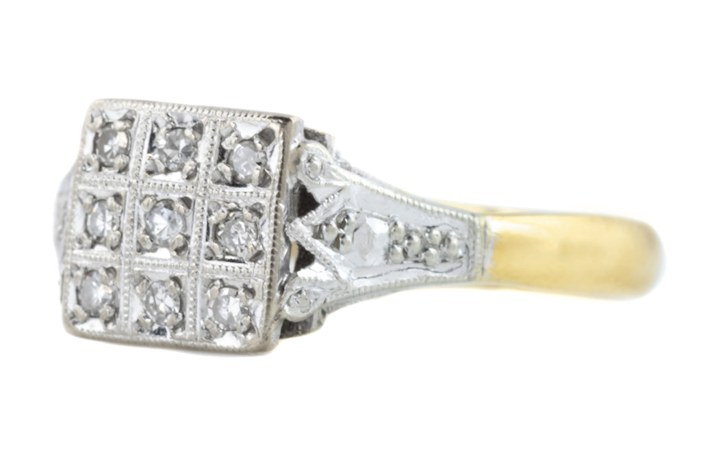 Art Deco Style Diamond Ring c.1965