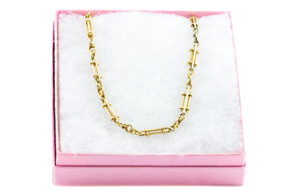 "18ct Gold Fancy Link Victorian Chain Necklace, 22"" (27.6g)"