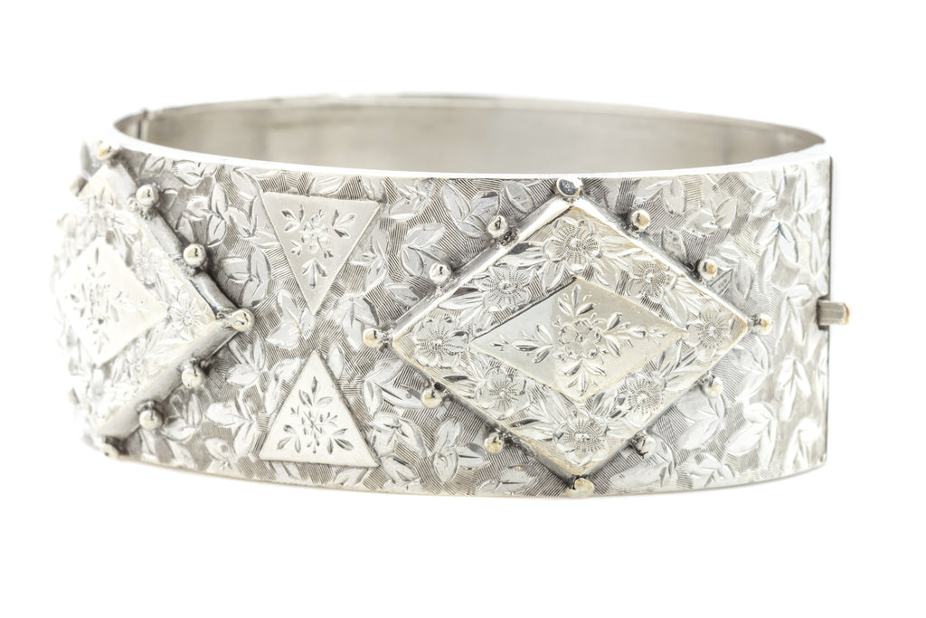 Victorian Aesthetic Silver Bangle c.1880