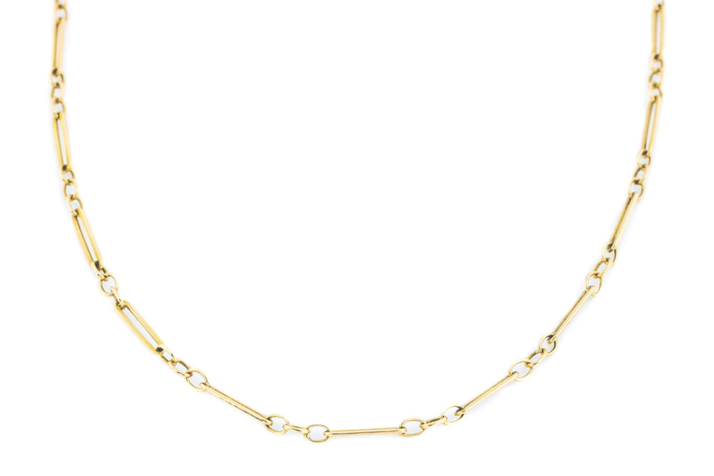 "Antique 9ct Gold Chain Necklace (4.3g - 18"")"