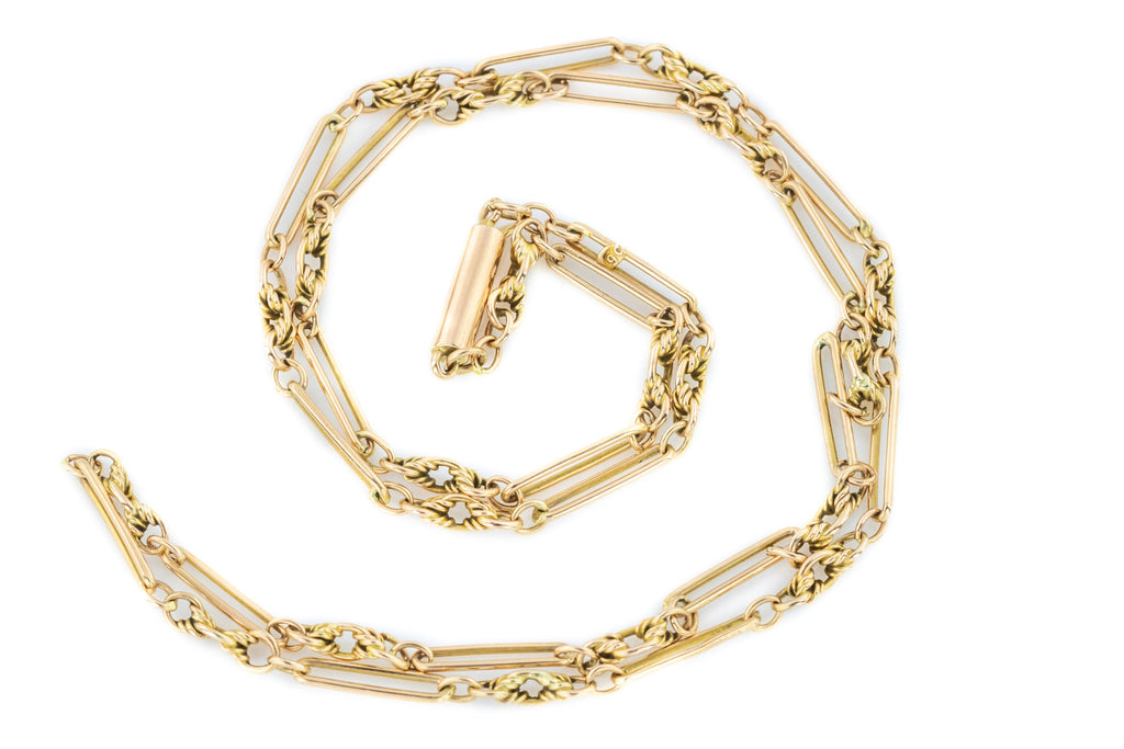 Victorian Gold Chain Necklace, 17""