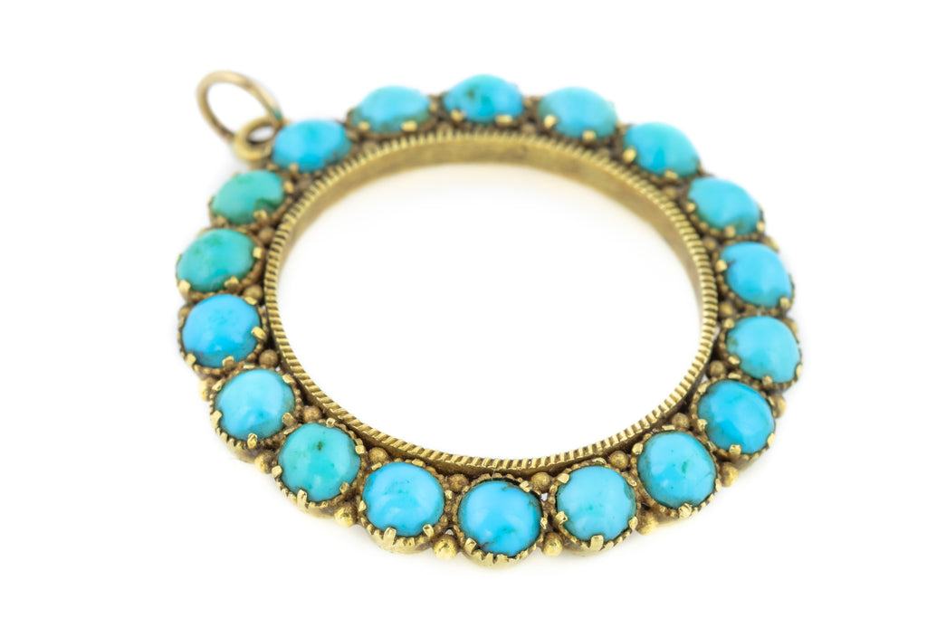 Victorian Turquoise and Gold Pendant