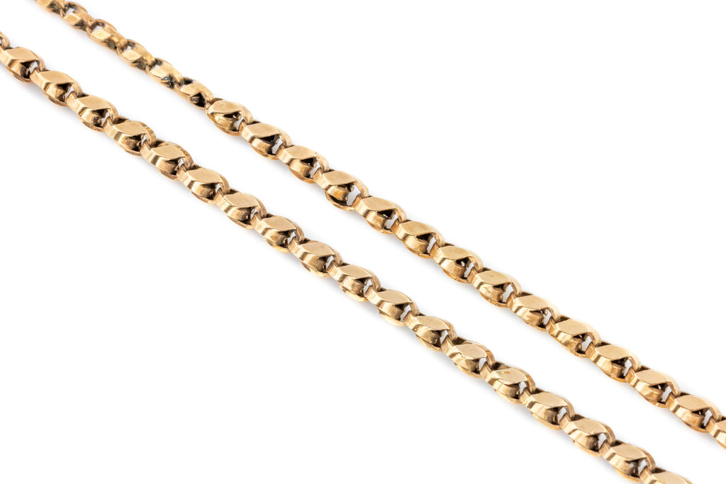 Victorian Rose Gold Chain Necklace, 27""