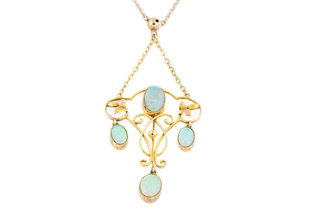 Art Nouveau Opal Drop Pendant (1.11ct)