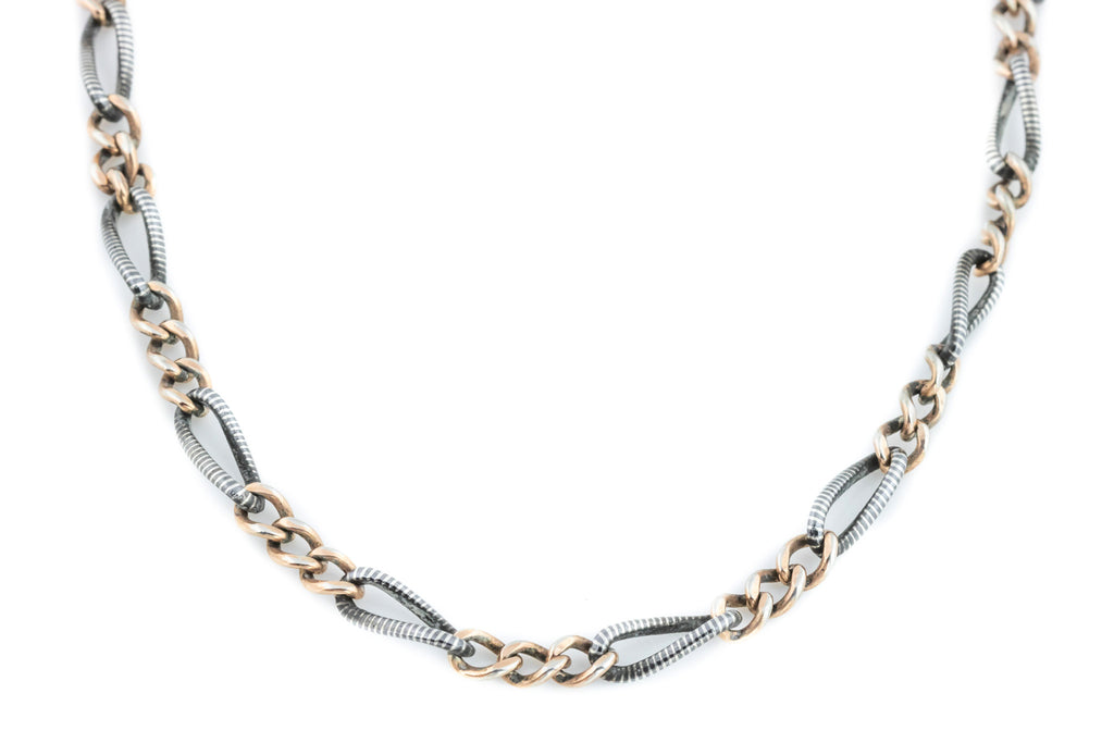 Victorian Niello Chain Necklace
