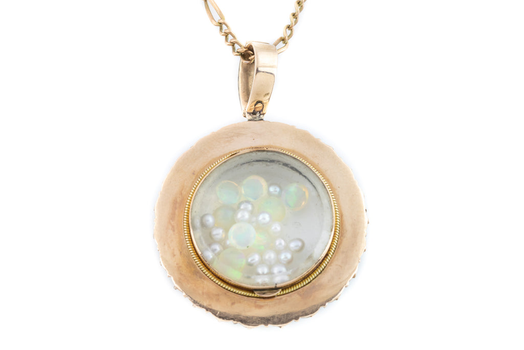 Victorian Gold and Pearl Shaker Style Locket
