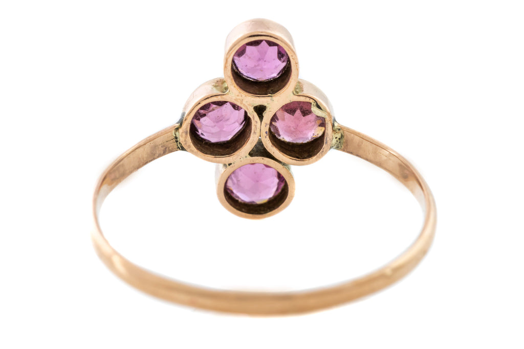 Victorian 9ct Rose Gold Garnet Ring c.1900