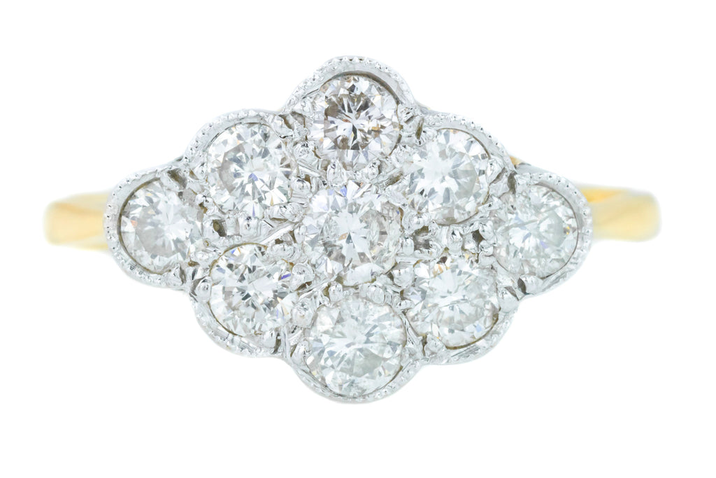 Art Deco Diamond Cluster Ring (0.7ct)
