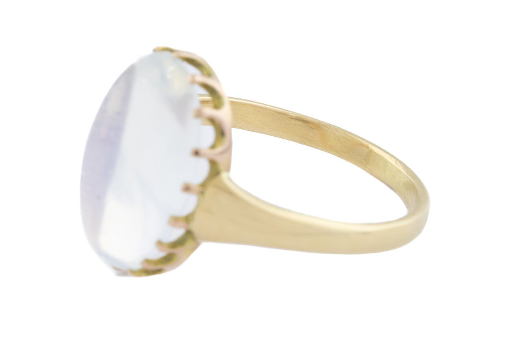 15ct Gold Victorian Moonstone Solitaire Ring (5.98ct)