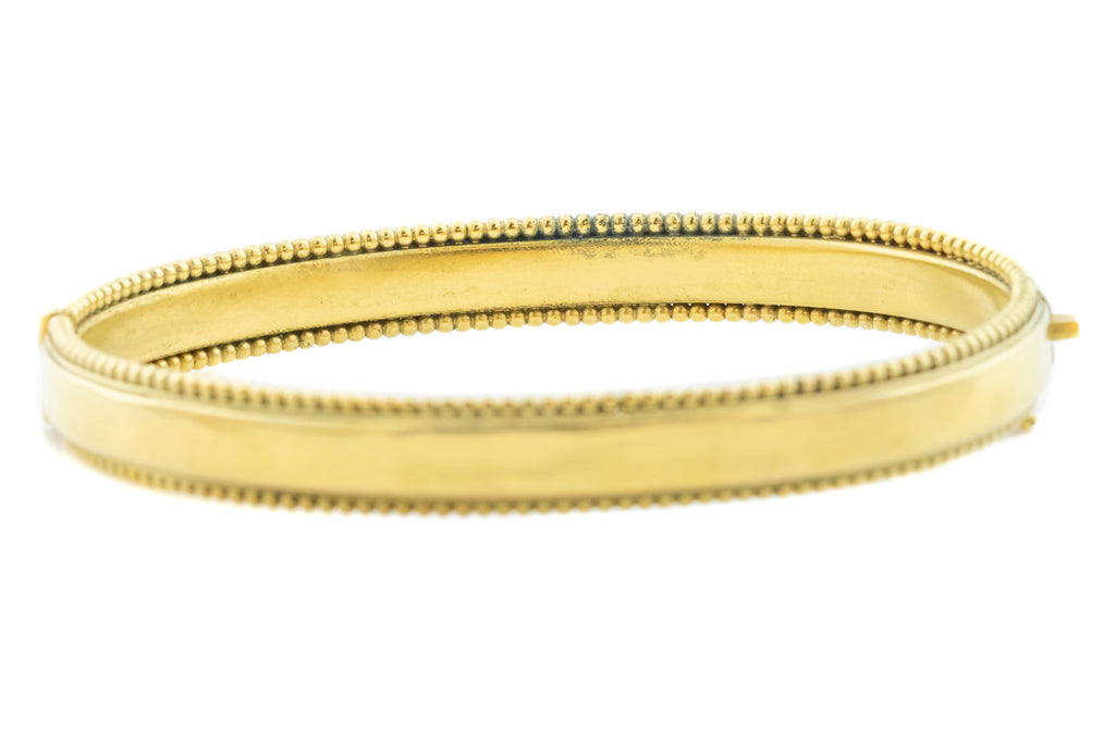 Antique Pinchbeck Bangle - Victorian Gold Bangle