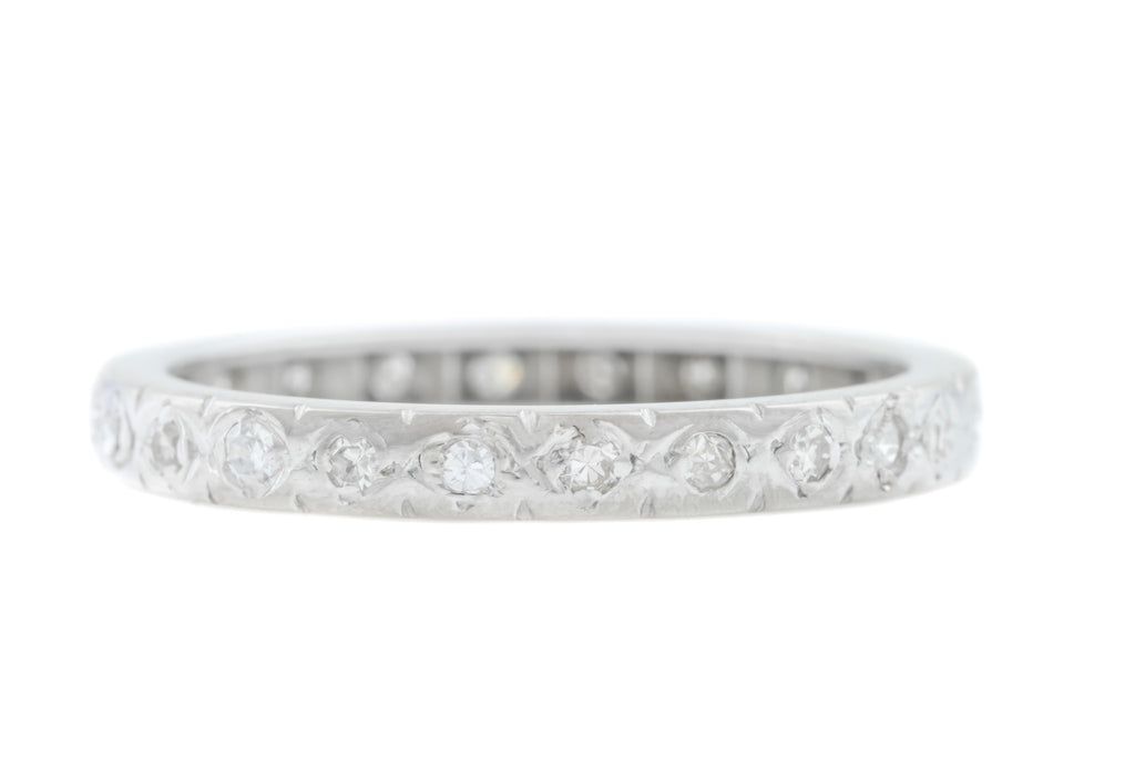 Art Deco 18ct Gold Diamond Eternity Ring (0.20ct)
