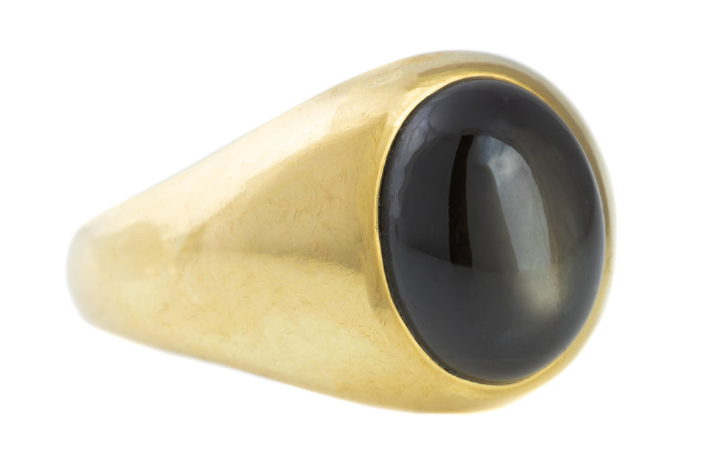 18ct Gold Victorian Star Smoky Quartz Ring