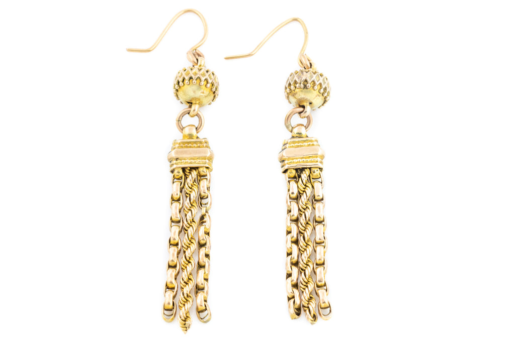 Victorian 9ct Gold Tassel Earrings