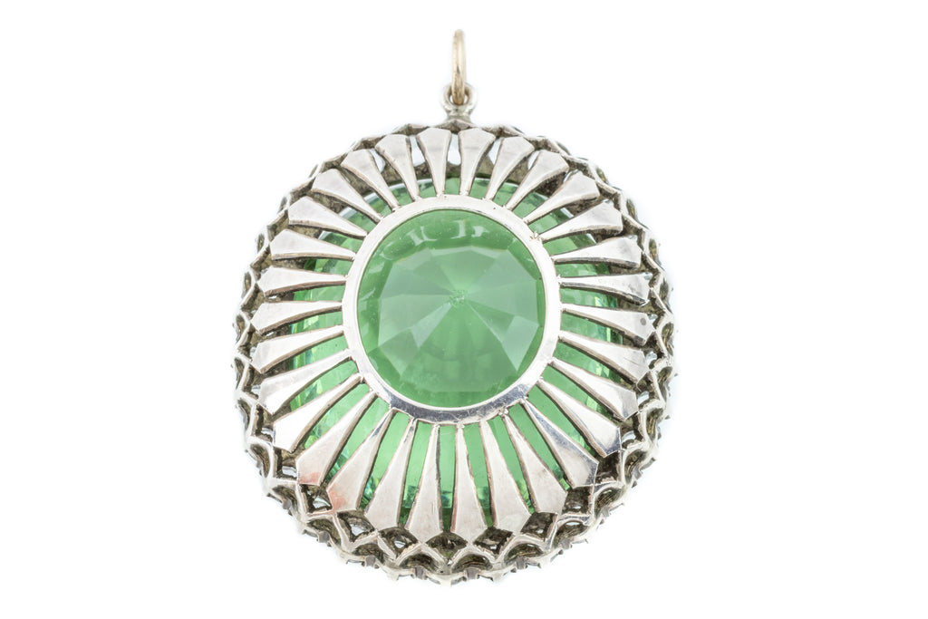Art Deco Flourite Paste Pendant