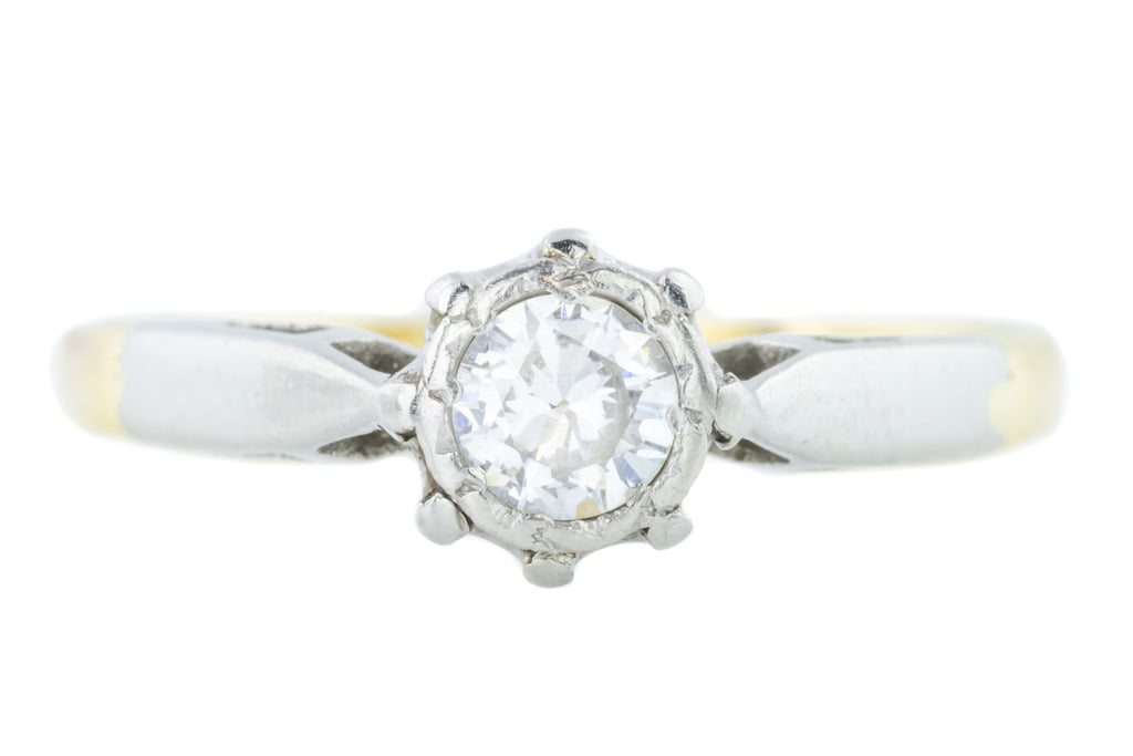Reserved - Art Deco Diamond Solitaire Ring (0.25ct)