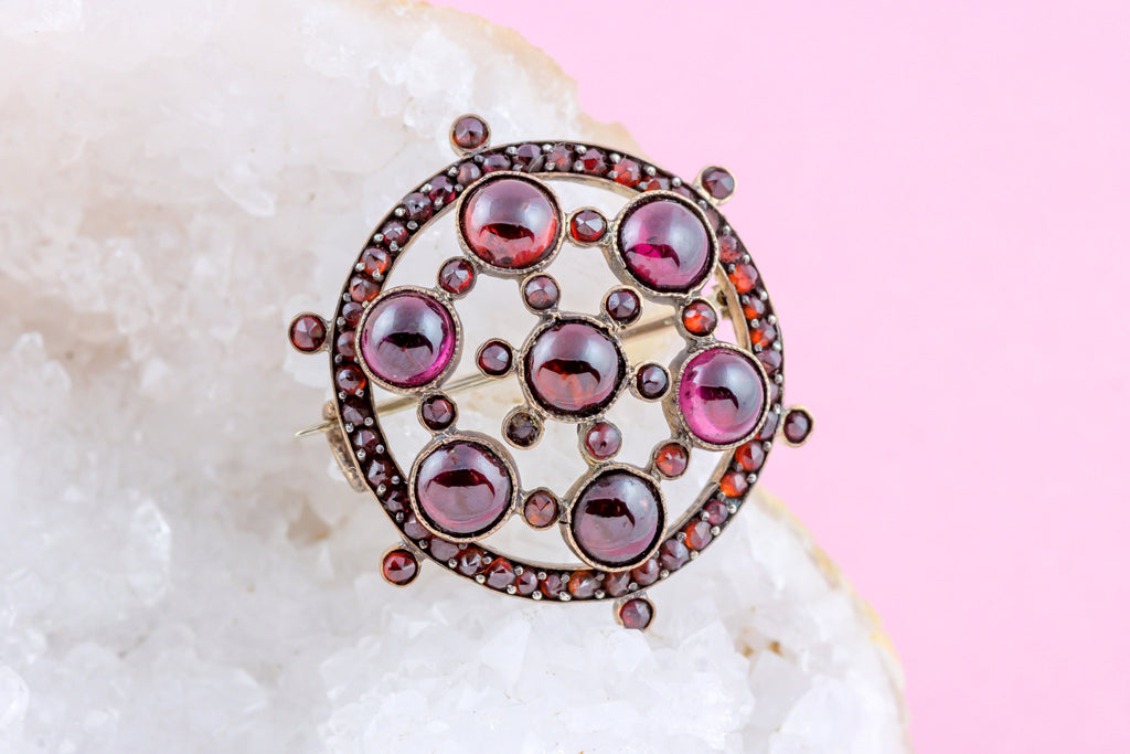 Antique Garnet Brooch