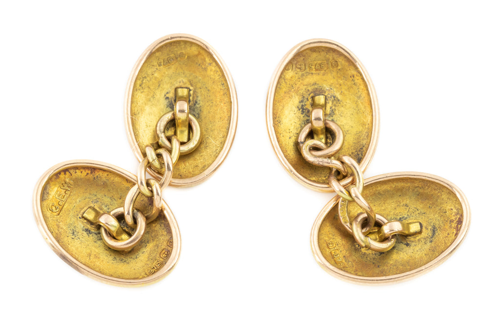 Edwardian 9ct Gold Cufflinks c.1902