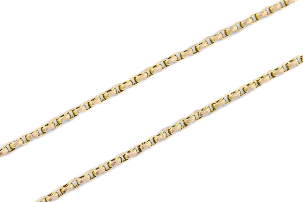 "Antique 9ct Gold Faceted Belcher Chain 20"" - 10.0g"