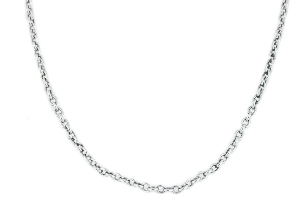 Antique Platinum Chain Necklace, 18""