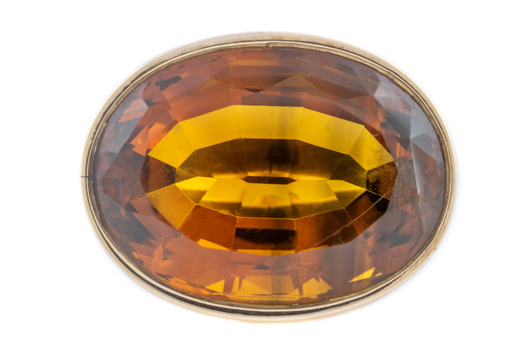 Georgian Citrine Fob Pendant (32.76ct)