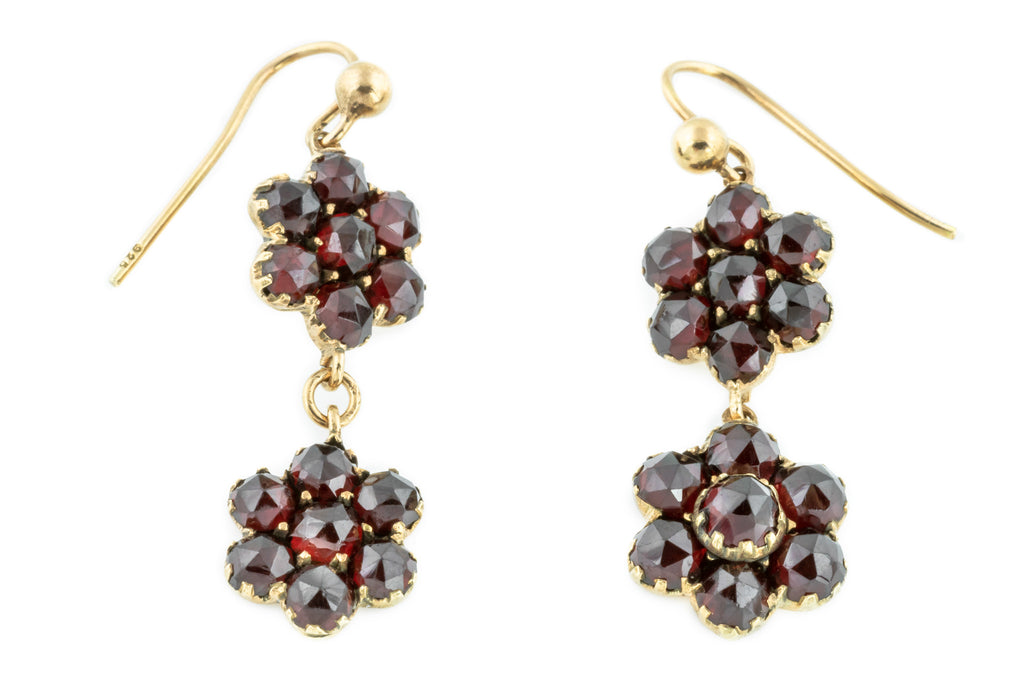 Victorian Bohemian Garnet Earrings